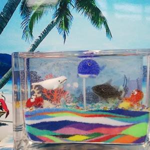 2019.8.12 夏休み最後の「滝野でキャンドル」 ぷるぷるジェルキャンドル 工作・自由研究