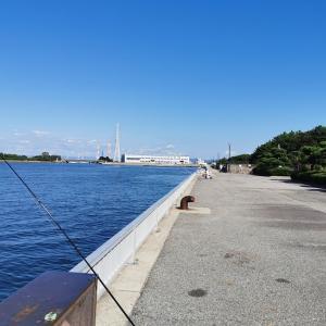 「2020.9.28 碧南海釣り公園で釣り」リーヌ(≧▽≦)