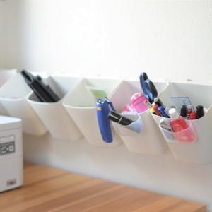 IKEA×無印×ダイソーで作った文房具収納