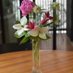 自分で育てた花を楽しむ