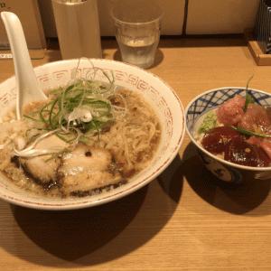 新橋「きたかた食堂」無化調!喜多方ラーメン 本鮪漬け丼も旨い!