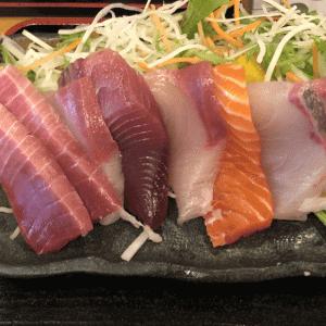 大岡山「九絵」孤独のグルメに登場 ランチの九絵定食は厚切りの刺身が旨い!なめろうもGood!