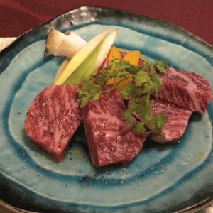 銀座「創作料理 櫻」群馬の最高級ブランド牛 増田牛!鉄板ステーキが最高に美味しかった!