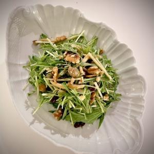 こんな感じの「水菜のサラダ」はどうでしょう?