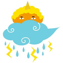 久し振りの雷雨
