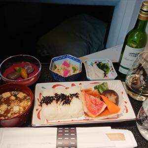 JAL JL094  ソウル(金浦) –  羽田 ビジネスクラス機内食 08JAN20