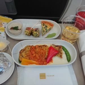 JAL JL324 福岡 ~ 羽田 ファーストクラス機内食  21JUN20