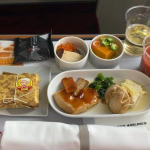 JAL JL923 羽田 ~ 沖縄 ファーストクラス機内食  04JUL20