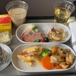 JAL JL513 羽田 ~ 札幌 ファーストクラス機内食  11JUL20
