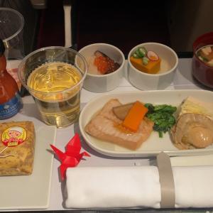 JAL JL330 福岡 ~ 羽田 ファーストクラス機内食  21JUL20