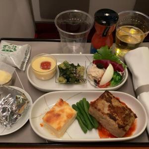 JAL JL332 福岡~羽田 ファーストクラス機内食  30AUG20