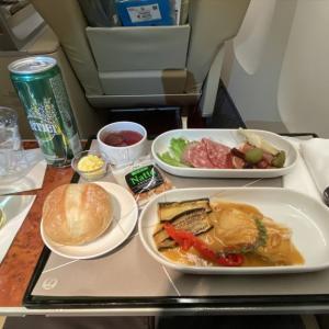 JAL JL528 札幌(新千歳)~羽田 ファーストクラス機内食  08OCT20