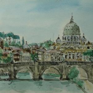 ローマ・サン・ピエトロ寺院遠望