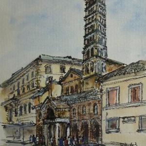 ローマ・「真実の口」のある教会