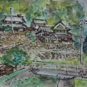 大阪箕面・余野川沿いの民家