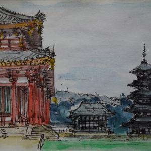 奈良・興福寺中金堂のある伽藍
