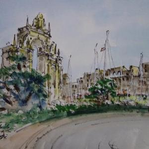 ナポリ・巨人の噴水と卵城