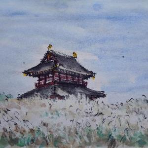 奈良・秋景色の朱雀門