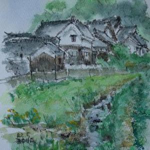 奈良大和郡山・環濠のある景色
