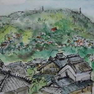 京都八幡・京阪電車の車窓から