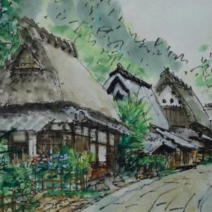 京都・鳥居本上地区のまちなみ