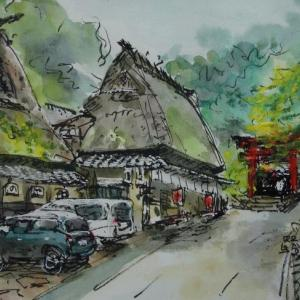 京都・愛宕神社一の鳥居近く
