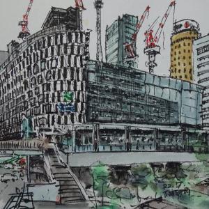 大阪・工事中の阪神百貨店