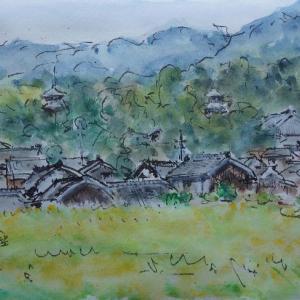 奈良・當麻寺遠望
