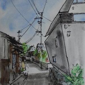 京都木津川・農村集落の中で