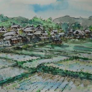 京都木津川・ニュータウンの横にある集落