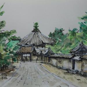 奈良斑鳩・夢殿を