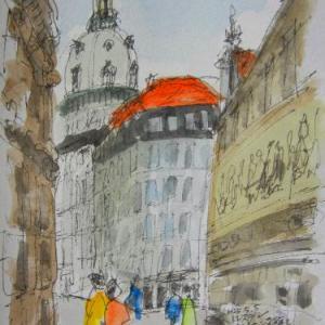 ドレスデン・君主の行列のある通り