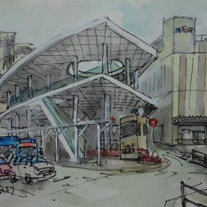 大阪茨城・JR茨木駅を北から