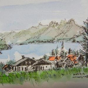 ハルシュタット・近郊での景色