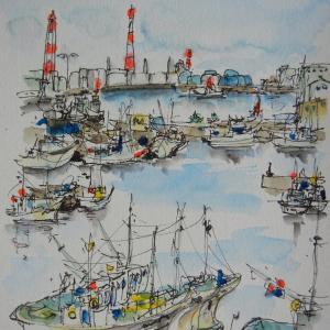 北海道苫小牧・漁港のけしき