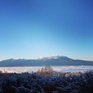 雲の海、今年最初のニュームーン、春よ来い
