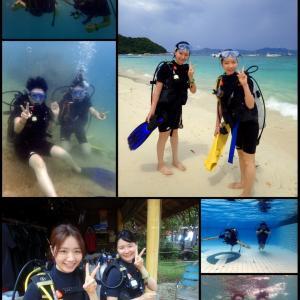 初めての姉妹旅でダイビングに挑戦!@コーラル島