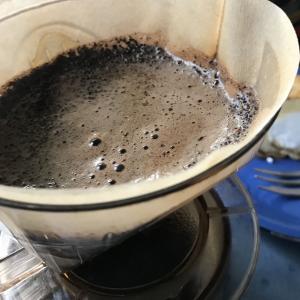 雨にコーヒー