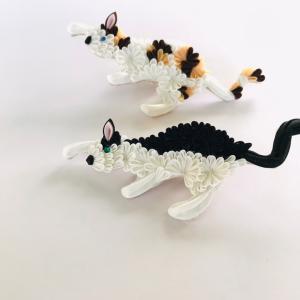 猫展 華猫ブローチ