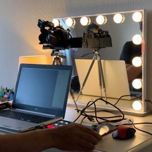 オンラインメイクレッスンのカメラ導入テスト
