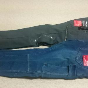 【着画】ワークマンプラスで夫が購入したジーンズ風ストレッチパンツ!ワークマンのおしゃれアイテムのフィールドコア!あったかくて動きやすい防寒、防風、4D立体構造!【感想】【レビュー】