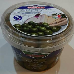 コストコのオリーブ!要冷蔵のMADAMA OLIVA シチリアカステルベトラーノ グリーンオリーブ 700g!ワインのおともに!ご褒美に♪