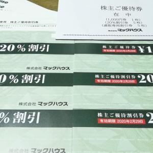 優待拡充のマックハウスからお買物券到着!通販専用優待券が追加されました