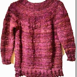 セーターが編めました~