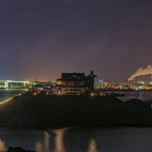 復活なった蕪嶋神社の夜景