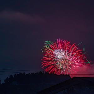 家から見えた花火