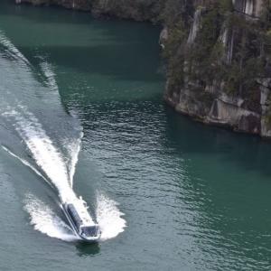 恵那峡の観光船はフル稼働している