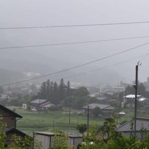 大雨警報と非難レベル3発令