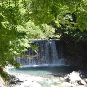川の流れが暑さを忘れさせてくれる