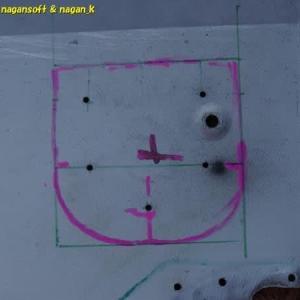 R-2君、ステアリングシャフトの通し穴位置を探る